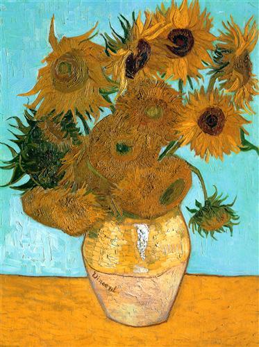 Still Life - Vase with Twelve Sunflowers  - Vincent van Gogh