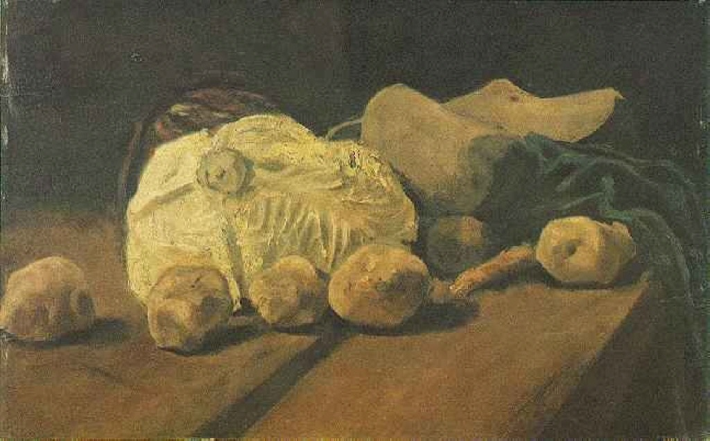 Still Life with Cabbage and Clogs, 1881