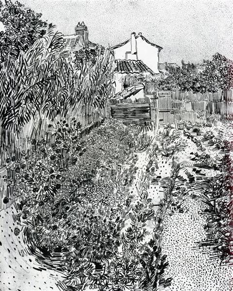 The Garden with Flowers, 1888 - Vincent van Gogh