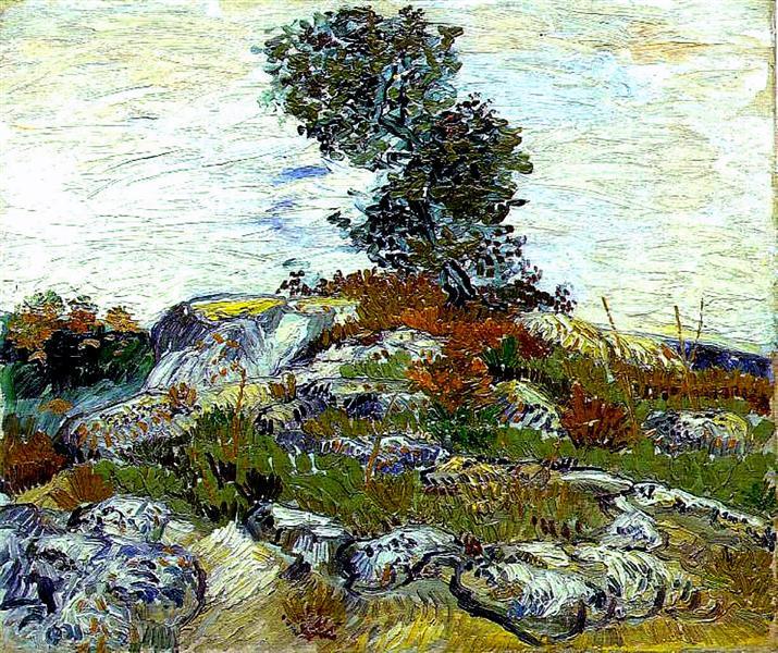 The Rocks with Oak tree, 1888 - Vincent van Gogh