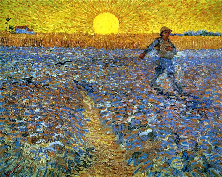 The Sower (Sower with Setting Sun), 1888 - Vincent van Gogh
