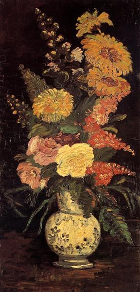 フィンセント・ファン・ゴッホ『花瓶の花』