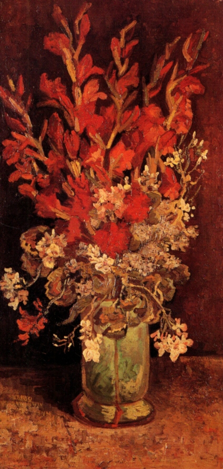 Vase With Gladioli And Carnations 1886 Vincent Van Gogh Wikiart Org