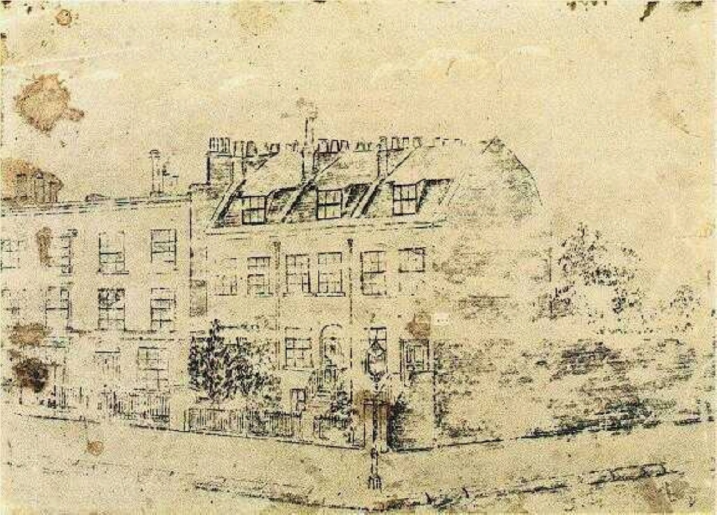 Vincent's Boarding House in Hackford Road, Brixton, London, 1873