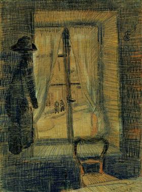 Ventana en el restaurante de Bataille, Vincent van Gogh