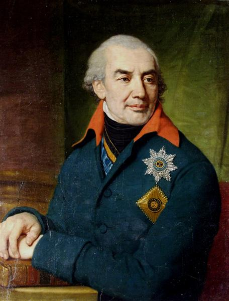 Portrait of Prince G S Volkonsky - Wladimir Lukitsch Borowikowski
