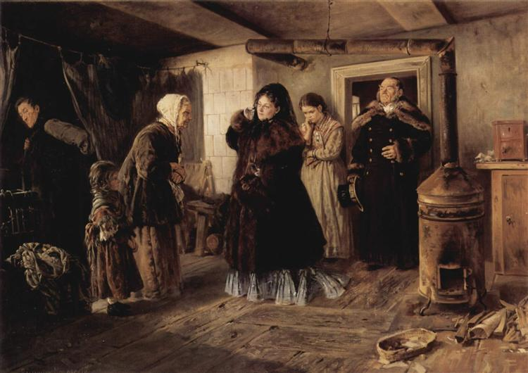 Visiting a poor people - Vladimir Makovsky