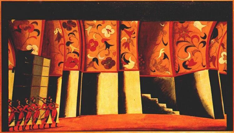 Sketch for stage set,  Glinka's Ivan Susanin, 1912 - 1914 - Vladímir Tatlin