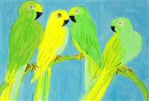 Green and Yellow Parrots - Воллес Тінг