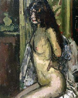 Seated Nude, Paris - Волтер Сікерт
