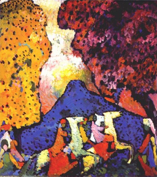 Blue mountain, 1908 - Wassily Kandinsky