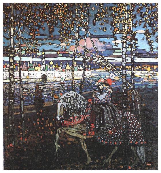 Couple riding, 1906 - Wassily Kandinsky