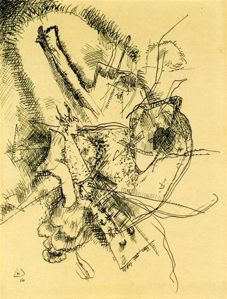 Drawing for Etching II, 1916 - Wassily Kandinsky