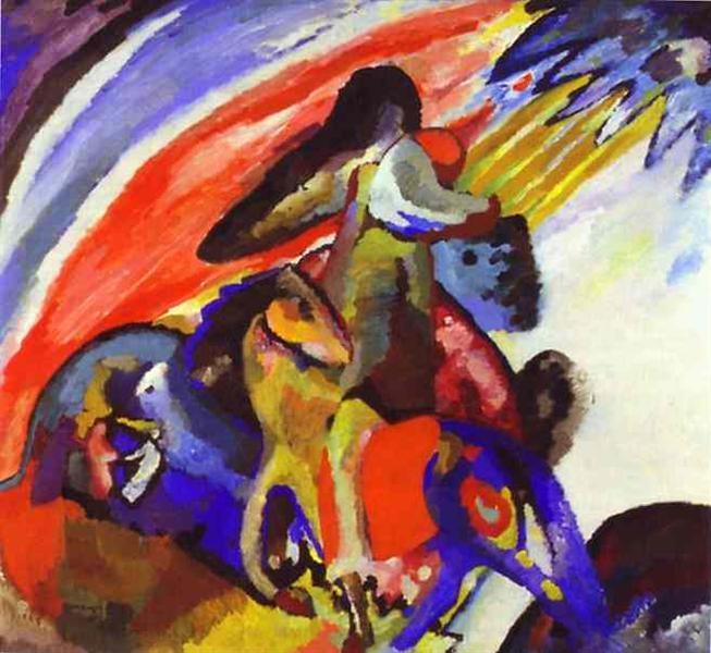 Импровизация 12 (Всадник), 1910 - Василий Кандинский