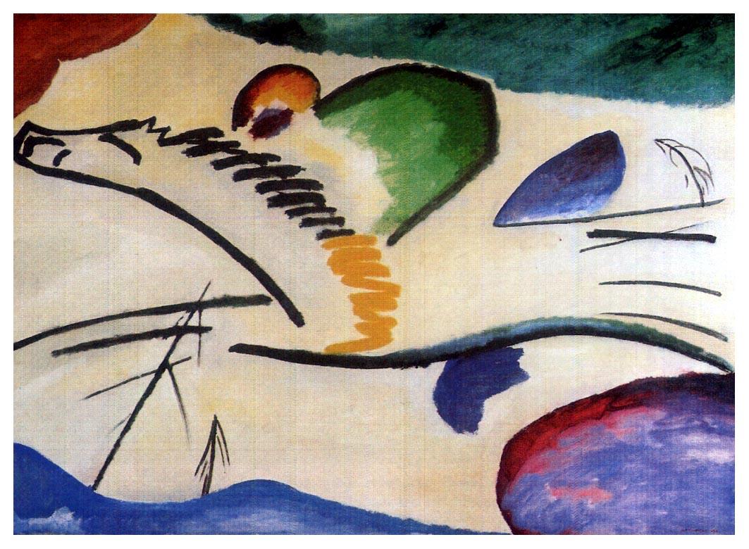 Wassily Kandinsky Composition IV 1911 Original | Etsy