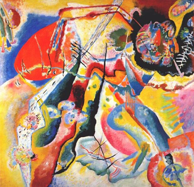 Painting with red spot, 1914 - Wassily Kandinsky