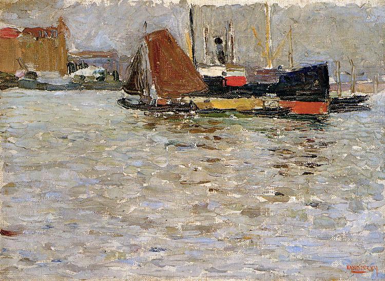 Rotterdam sun, 1906 - Wassily Kandinsky