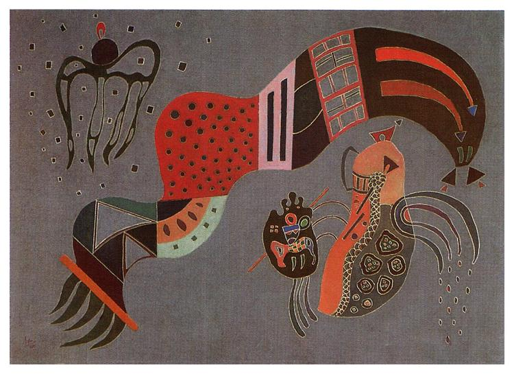 Tempered Elan, 1944 - Wassily Kandinsky