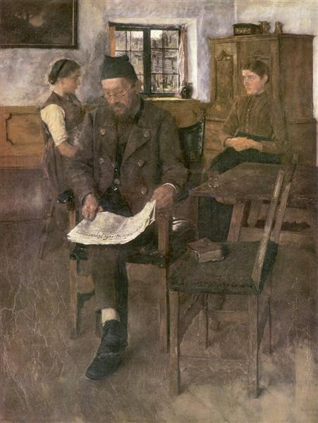 Der Zeitungsleser, 1891 - Wilhelm Leibl