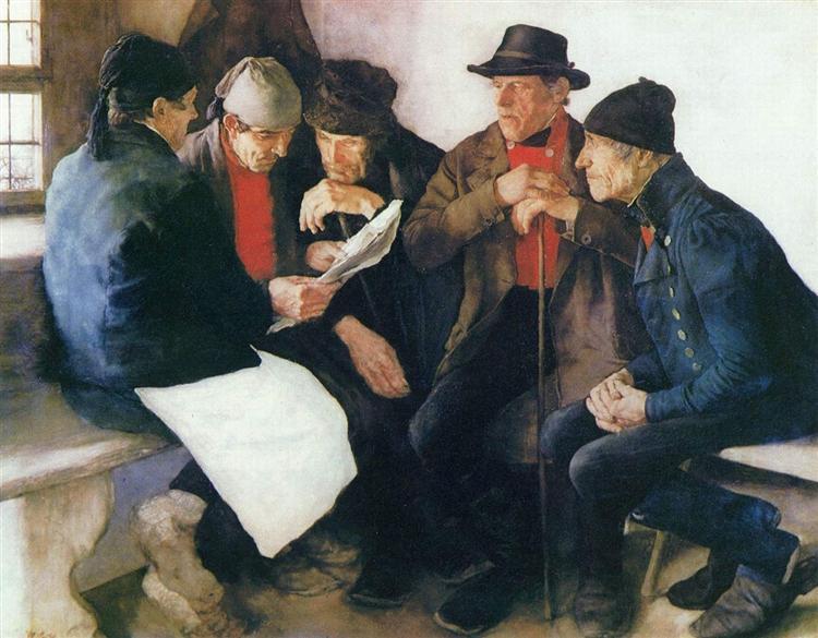 Die Dorfpolitiker, 1877 - 威廉·莱布尔