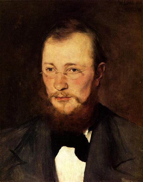 Porträt des Dr. med. Friedrich Rauert, 1877 - Wilhelm Leibl