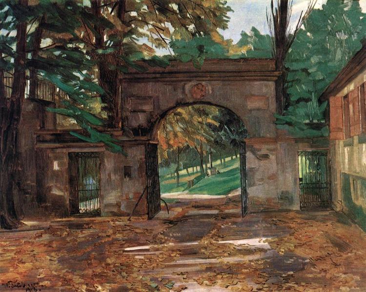 Neuburg Gates, Heidelberg, 1913 - Wilhelm Trübner