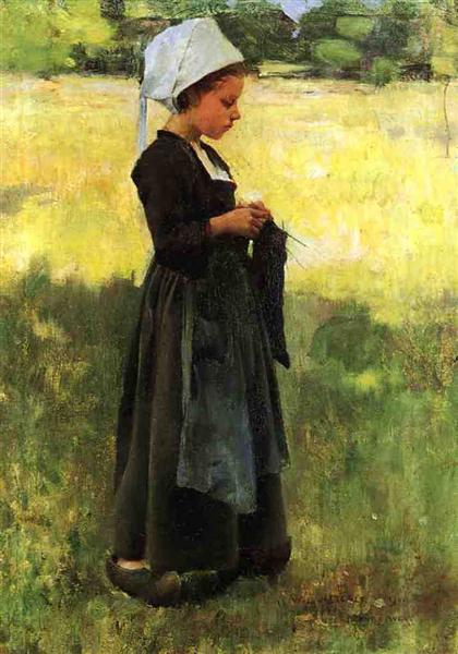 Breton Girl, 1884 - Віллард Меткалф