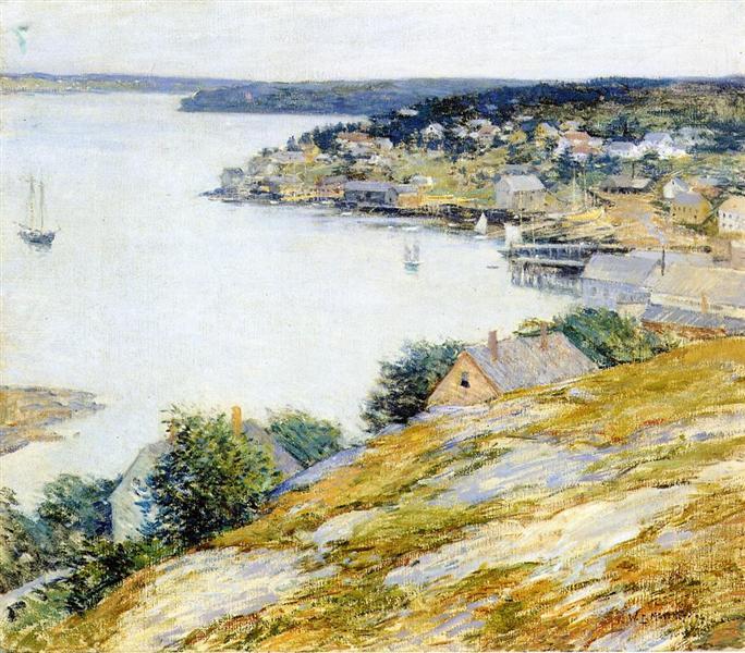 East Boothbay Harbor, 1904 - Willard Metcalf