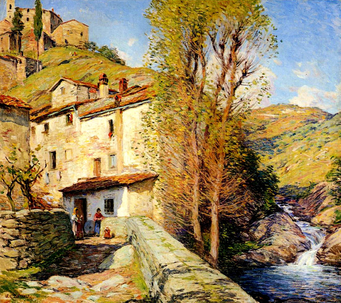Pelago Italy  City new picture : Old Mill, Pelago, Italy Willard Metcalf WikiArt.org encyclopedia ...