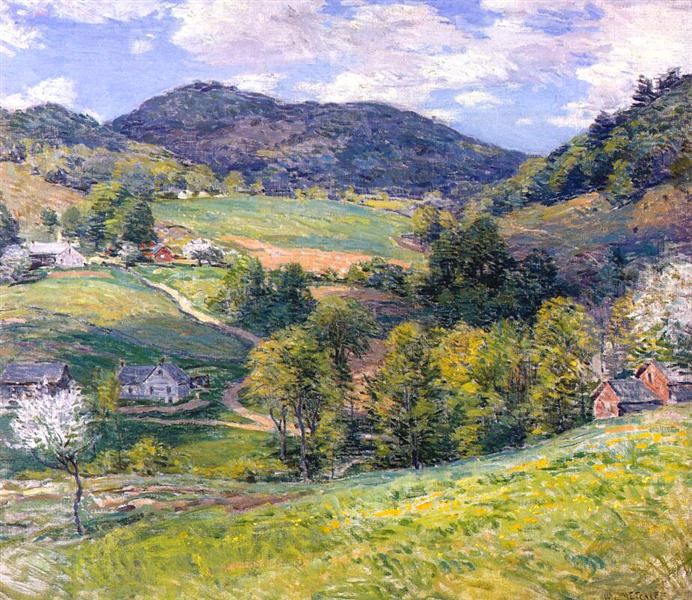Spring in the Valley, 1924 - Willard Metcalf