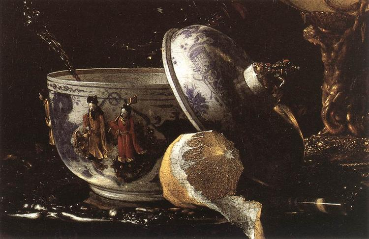 Still-Life with a Nautilus Cup (detail) - Willem Kalf