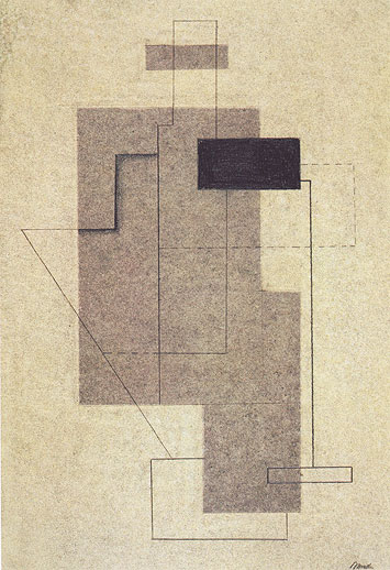 Seated Figure - Abstracted, 1926 - Willi Baumeister