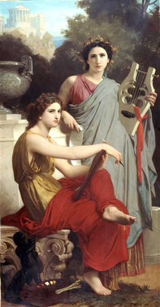 Art and Literature, c.1867 - William-Adolphe Bouguereau