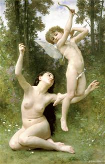 Love takes off - William-Adolphe Bouguereau