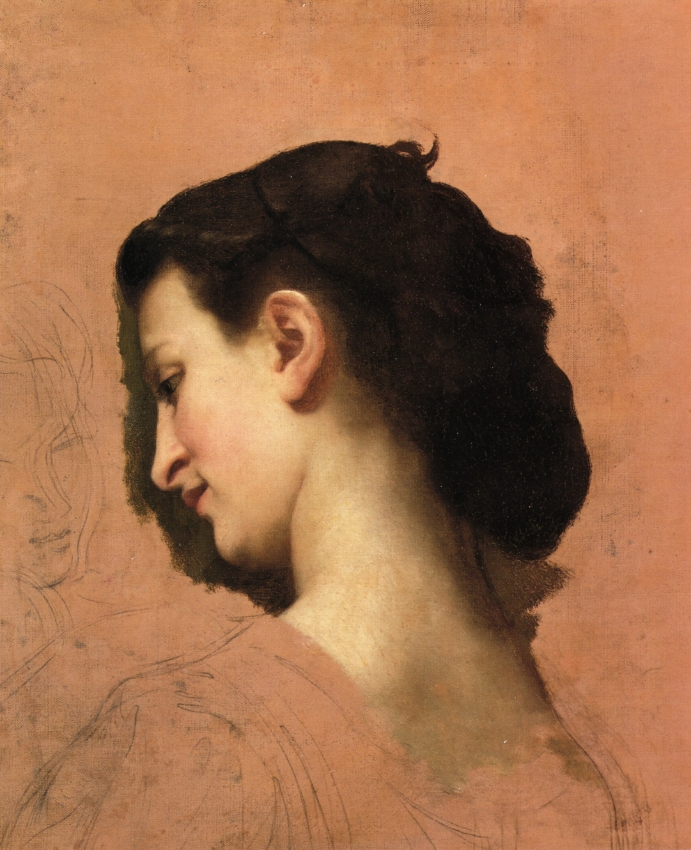 Study of a Young Girl s Head, 1860-1870