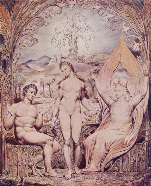 Archangel Raphael with Adam and Eve, 1808 - William Blake