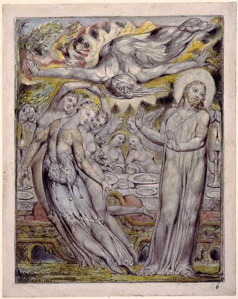 Christ refusing the banquet offered by Satan, 1816 - 1820 - William Blake