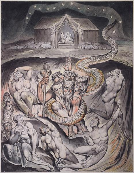 Illustration to Milton`s On the Morning of Christ`s Nativity, 1809 - William Blake
