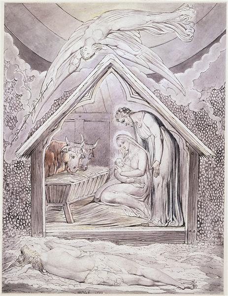 Illustration to Milton`s On the Morning of Christ`s Nativity, 1809 - William Blake