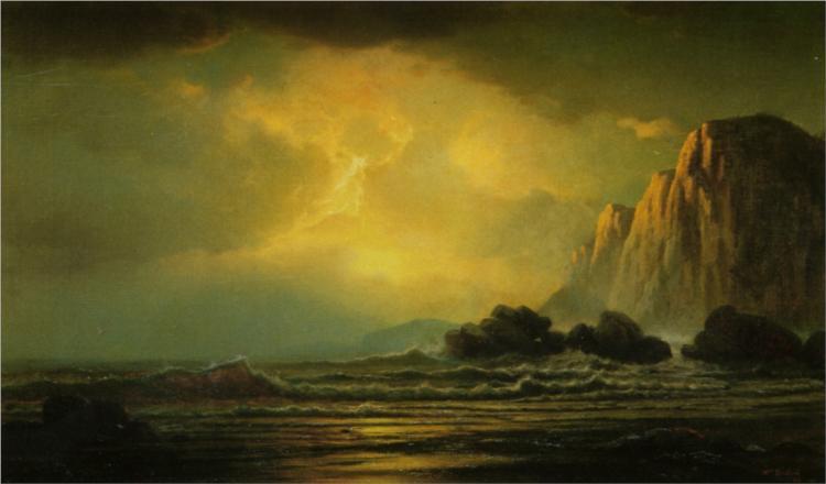 Coastal Scene at Sunset, 1869 - William Bradford
