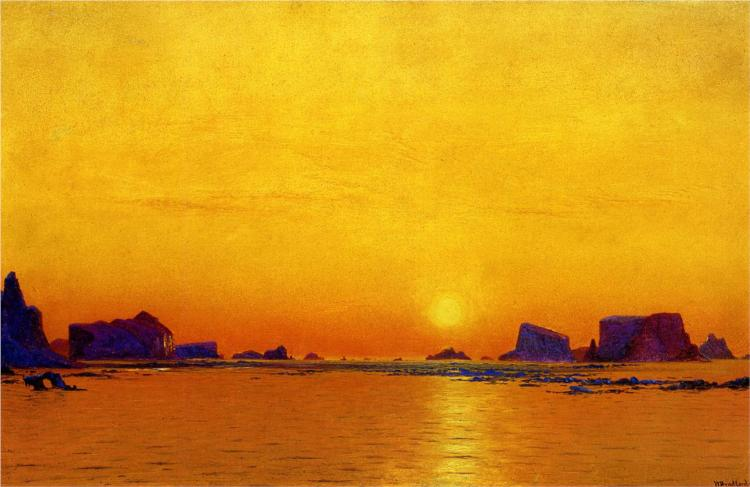 Ice Floes under the Midnight Sun, 1869 - William Bradford