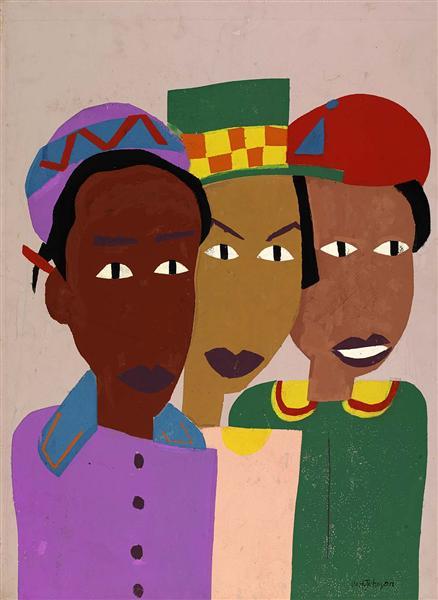Three Friends, 1945 - William H. Johnson