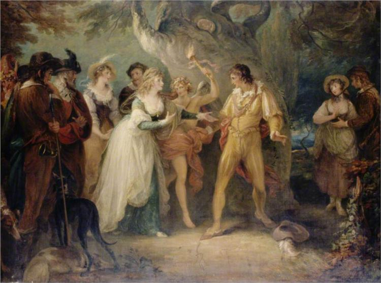 A Scene from 'As You Like It' by William Shakespeare, 1790 - William Hamilton