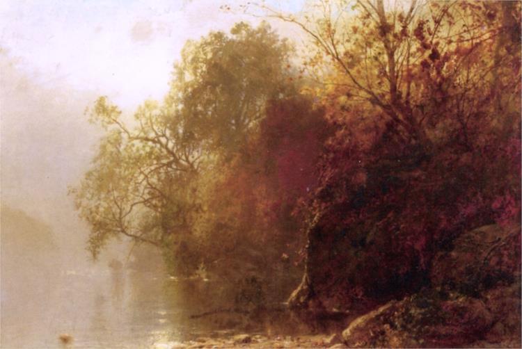 Autumn on the Lake, 1873 - William Hart