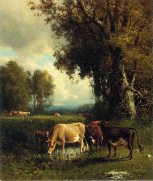 Cows in the Meadow, 1878 - William Hart