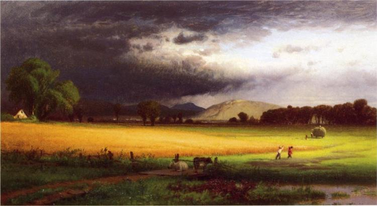 Harvest Scene - Valley of the Delaware, 1868 - Вільям Харт
