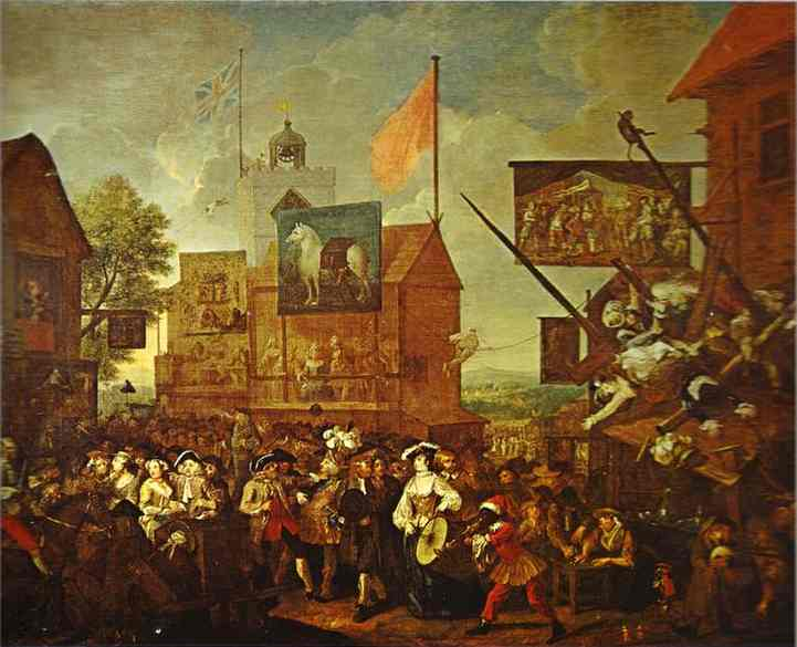 Southwark Fair, 1733 - William Hogarth