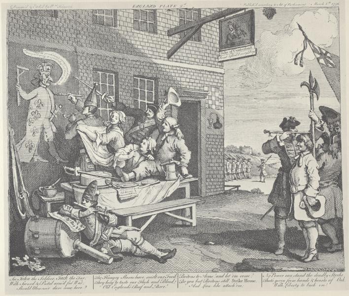 The Invasion, England - William Hogarth