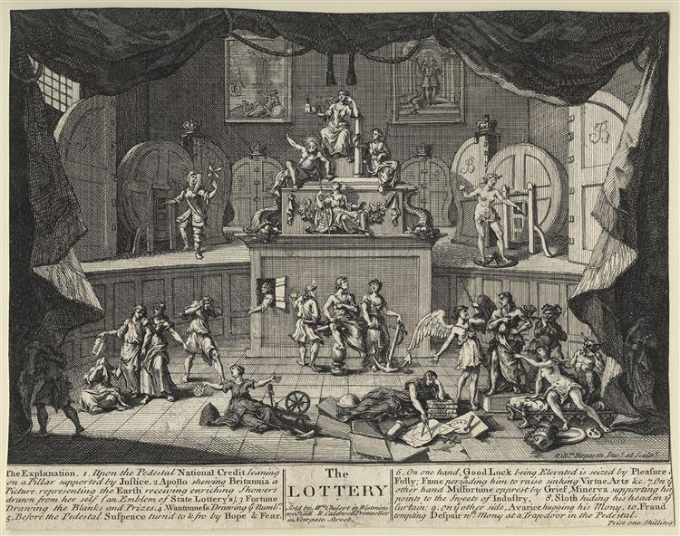 The Lottery - William Hogarth