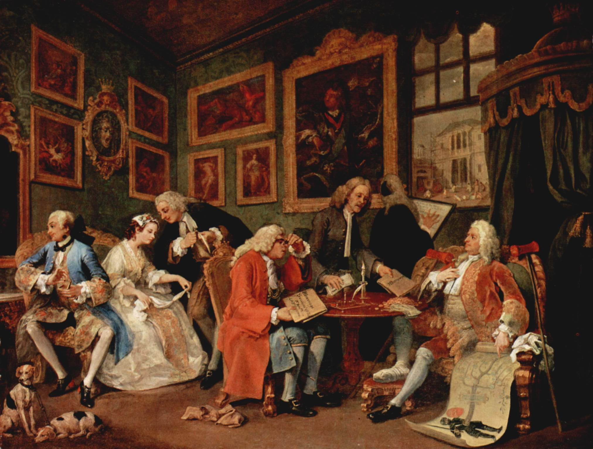 The Marriage Contract c1743 c1745 William Hogarth WikiArtorg – Painting Contract